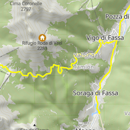 Cycling routes and bike maps in and around Pozza di Fassa ...