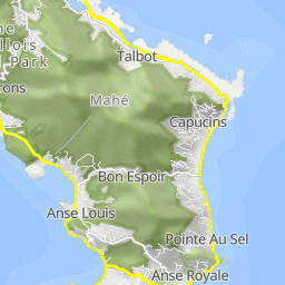Km Hilly Cycling Tour With Hm Altitude Difference In - Seychelles interactive map