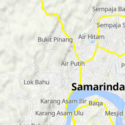 Cycling routes and bike maps in and around Samarinda | Bikemap ...
