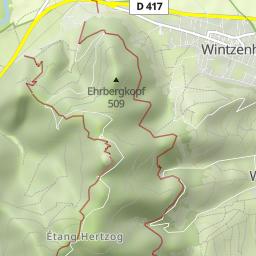 Elsass Karte Zum Ausdrucken.Strasse Der Funf Burgen Im Elsass Wandermap Deine